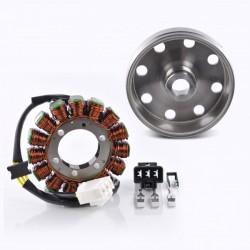 Kit Alternateur Stator Volant Magnétique Rotor Aprilia RSV4 1000 Tuono 1000 V4 Tuono 1100 V4 OEM 897479 2D000049