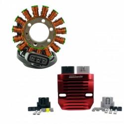 Kit Stator Machined Aluminum Voltage Regulator Rectifier BMW S1000R S1000RR OEM 12317718420