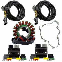 Kit Stator Double Sorties + Régulateurs Kit Relocalisation Joint Carter Polaris RZR900 1000 General 1000 Ranger 900 1000