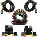 Kit Dual Output Stator + Series Regulators + Harnesses Polaris Scrambler 850 1000 Sportsman 325 450 570 850 1000