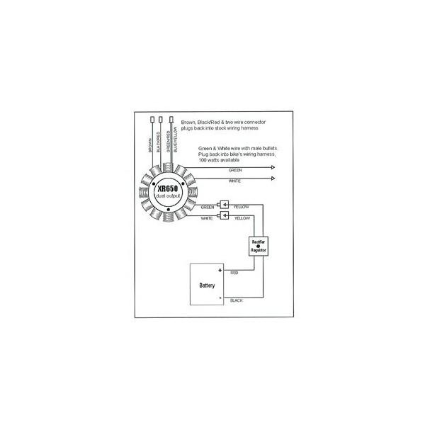 Stator Honda XR400R XR650R OEM 31120-KCY-671 31120-MBN-671 on